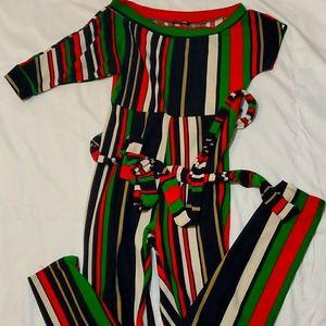 Fashionnova Multi color striped Jumpsuit